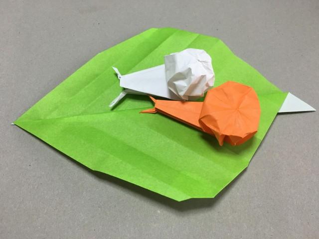 ハート 折り紙 折り紙 かたつむり 簡単 : ikujino-chiebukuro.com